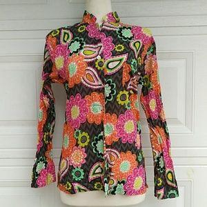 🍁Vera Bradley Multi-color Floral Button Down